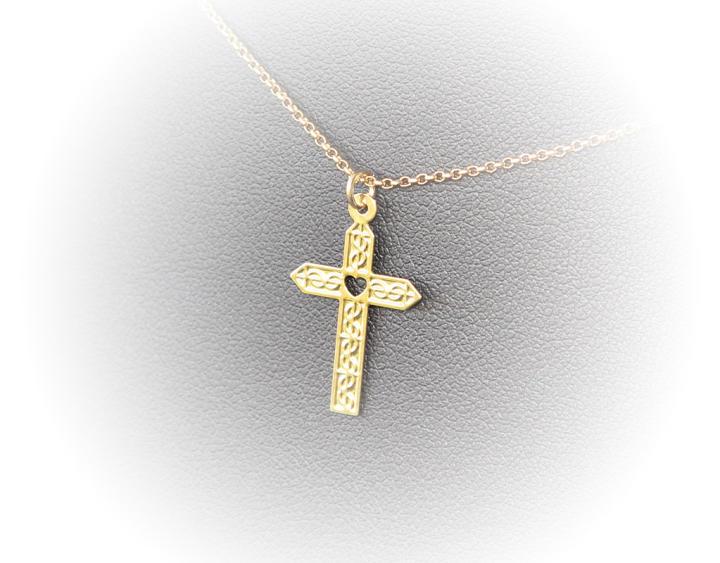 collier ras de cou or croix